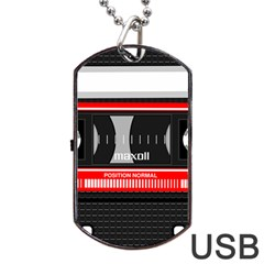 Compact Cassette Musicassette Mc Dog Tag Usb Flash (two Sides)