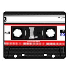 Compact Cassette Musicassette Mc Double Sided Fleece Blanket (small)