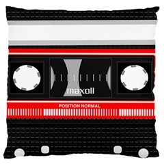 Compact Cassette Musicassette Mc Large Flano Cushion Case (two Sides)
