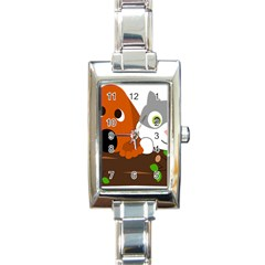 Baby Decoration Cat Dog Stuff Rectangle Italian Charm Watch