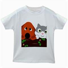 Baby Decoration Cat Dog Stuff Kids White T Shirts by Nexatart