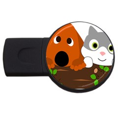 Baby Decoration Cat Dog Stuff Usb Flash Drive Round (2 Gb)
