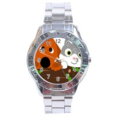 Baby Decoration Cat Dog Stuff Stainless Steel Analogue Watch