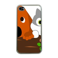 Baby Decoration Cat Dog Stuff Apple Iphone 4 Case (clear)