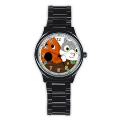 Baby Decoration Cat Dog Stuff Stainless Steel Round Watch