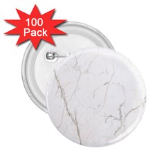 White Marble Tiles Rock Stone Statues 2 25  Buttons (100 Pack)