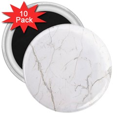 White Marble Tiles Rock Stone Statues 3  Magnets (10 Pack)