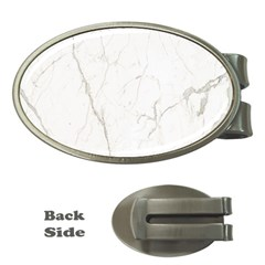 White Marble Tiles Rock Stone Statues Money Clips (oval)  by Nexatart