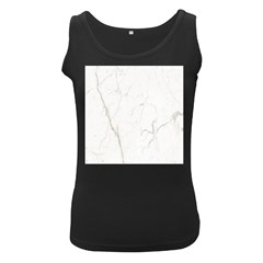 White Marble Tiles Rock Stone Statues Women s Black Tank Top