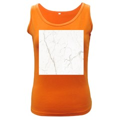 White Marble Tiles Rock Stone Statues Women s Dark Tank Top