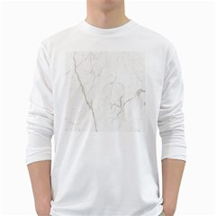 White Marble Tiles Rock Stone Statues White Long Sleeve T Shirts