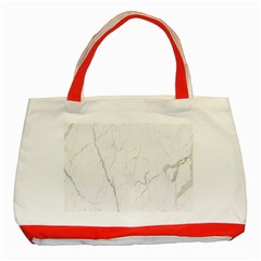 White Marble Tiles Rock Stone Statues Classic Tote Bag (red)
