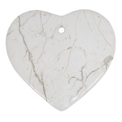 White Marble Tiles Rock Stone Statues Heart Ornament (two Sides)