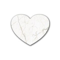White Marble Tiles Rock Stone Statues Rubber Coaster (heart)