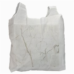 White Marble Tiles Rock Stone Statues Recycle Bag (two Side)