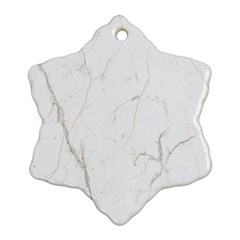White Marble Tiles Rock Stone Statues Snowflake Ornament (two Sides)