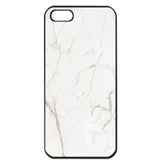 White Marble Tiles Rock Stone Statues Apple Iphone 5 Seamless Case (black)
