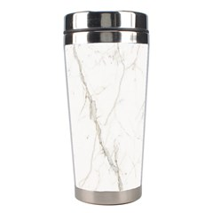 White Marble Tiles Rock Stone Statues Stainless Steel Travel Tumblers
