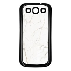 White Marble Tiles Rock Stone Statues Samsung Galaxy S3 Back Case (black)