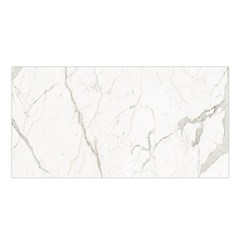 White Marble Tiles Rock Stone Statues Satin Shawl
