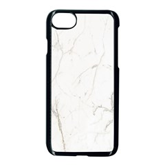 White Marble Tiles Rock Stone Statues Apple Iphone 7 Seamless Case (black) by Nexatart