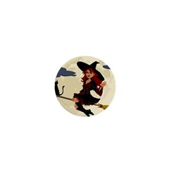 Witch Witchcraft Broomstick Broom 1  Mini Buttons