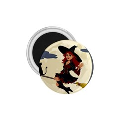 Witch Witchcraft Broomstick Broom 1 75  Magnets