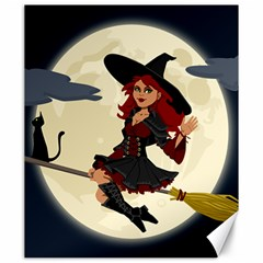 Witch Witchcraft Broomstick Broom Canvas 20  X 24