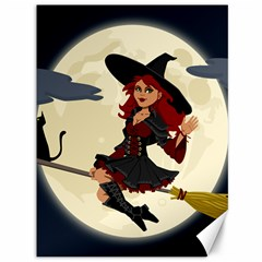 Witch Witchcraft Broomstick Broom Canvas 36  X 48