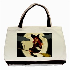 Witch Witchcraft Broomstick Broom Basic Tote Bag (two Sides)