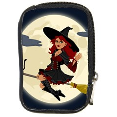 Witch Witchcraft Broomstick Broom Compact Camera Cases by Nexatart