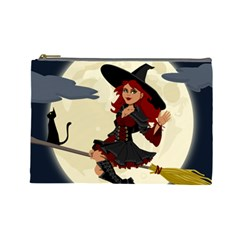 Witch Witchcraft Broomstick Broom Cosmetic Bag (large)