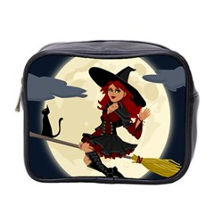 Witch Witchcraft Broomstick Broom Mini Toiletries Bag 2 Side