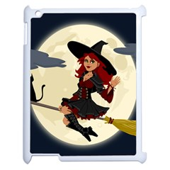 Witch Witchcraft Broomstick Broom Apple Ipad 2 Case (white)