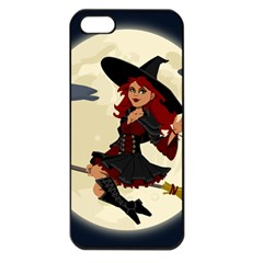 Witch Witchcraft Broomstick Broom Apple Iphone 5 Seamless Case (black)