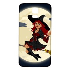 Witch Witchcraft Broomstick Broom Samsung Galaxy S5 Back Case (white)