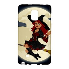 Witch Witchcraft Broomstick Broom Galaxy Note Edge by Nexatart
