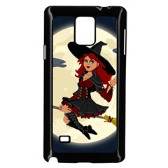 Witch Witchcraft Broomstick Broom Samsung Galaxy Note 4 Case (black)