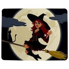 Witch Witchcraft Broomstick Broom Jigsaw Puzzle Photo Stand (rectangular)