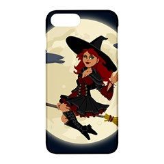 Witch Witchcraft Broomstick Broom Apple Iphone 7 Plus Hardshell Case by Nexatart