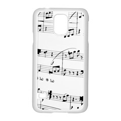 Abuse Background Monochrome My Bits Samsung Galaxy S5 Case (white)