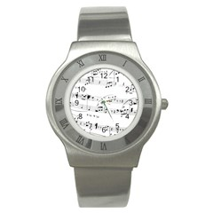 Abuse Background Monochrome My Bits Stainless Steel Watch