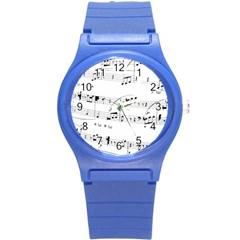 Abuse Background Monochrome My Bits Round Plastic Sport Watch (s)