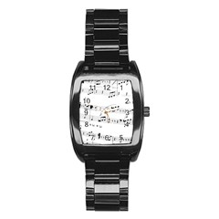 Abuse Background Monochrome My Bits Stainless Steel Barrel Watch