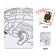 Brain Chart Diagram Face Fringe Playing Card