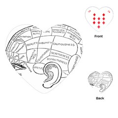 Brain Chart Diagram Face Fringe Playing Cards (heart)