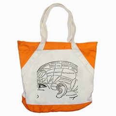 Brain Chart Diagram Face Fringe Accent Tote Bag
