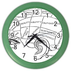 Brain Chart Diagram Face Fringe Color Wall Clocks by Nexatart