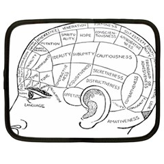 Brain Chart Diagram Face Fringe Netbook Case (xxl)