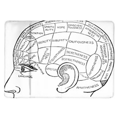 Brain Chart Diagram Face Fringe Samsung Galaxy Tab 10 1  P7500 Flip Case